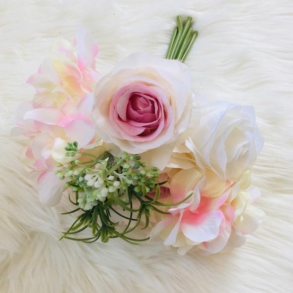 Ashland Faux Floral Bouquet Pink & White Flowers